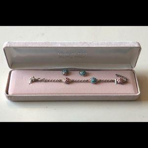 Jewelry - Child's bracelet &pierced earrings.Sterling silver